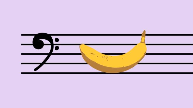 Hur låter en banan - familjekonsert med nutida konstmusik, producerad av Musik i Väst