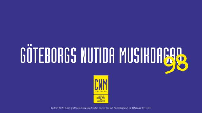 Göteborgs nutida musikdagar '98