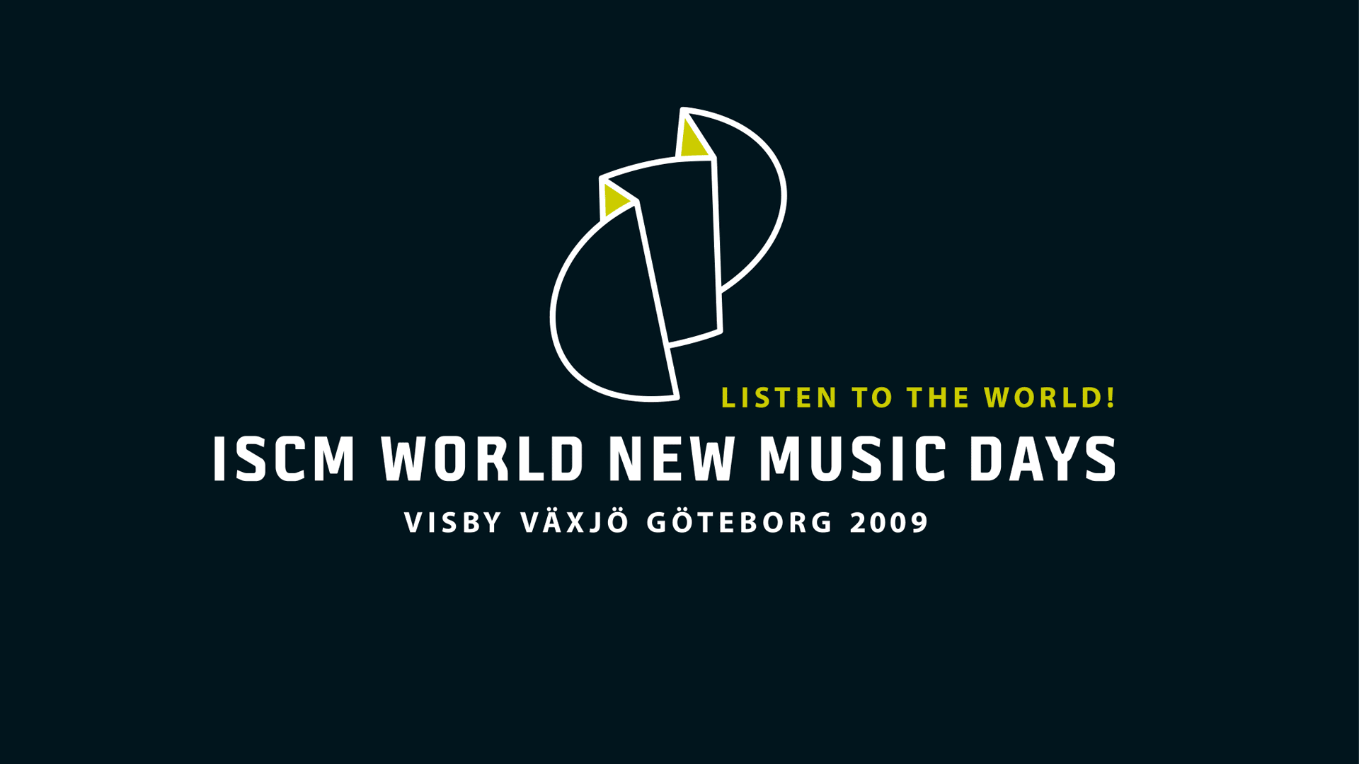 ISCM: Listen to the world 2009 - logotyp